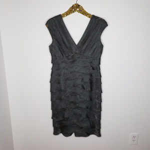 Cache Ruffled Coctail Party Dress